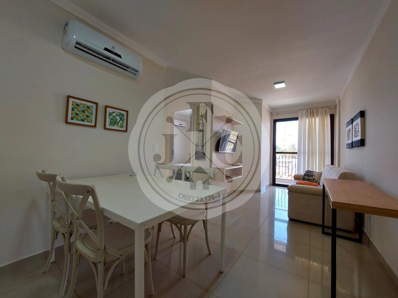 Apartamento mobiliado para locação com 2 dormitórios no bairro jardim Palma Travassos.