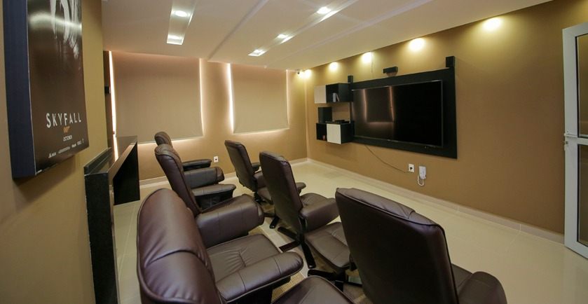 Apartamento à venda no Centro: Home Cinema