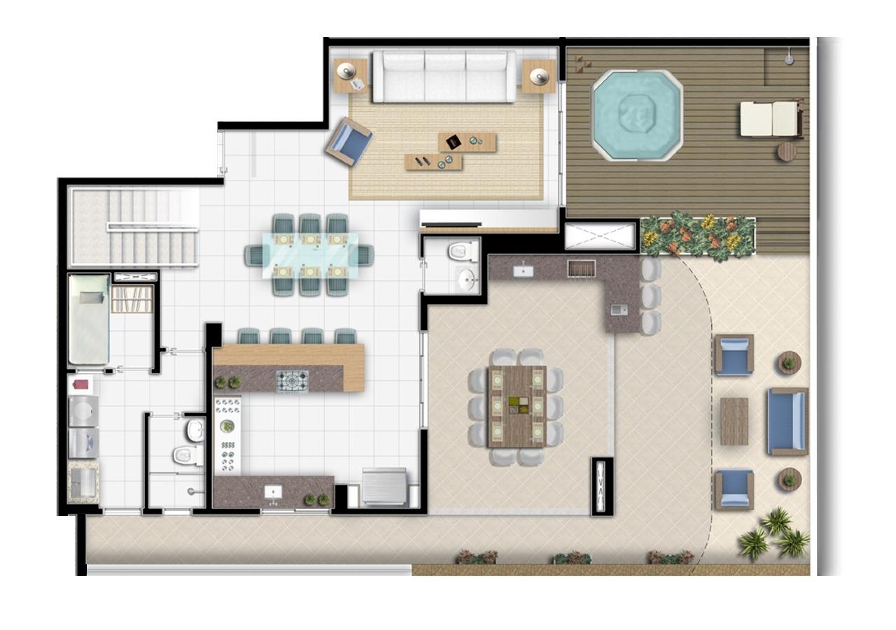Apartamento à venda no Riviera de São Lourenço: Térreo