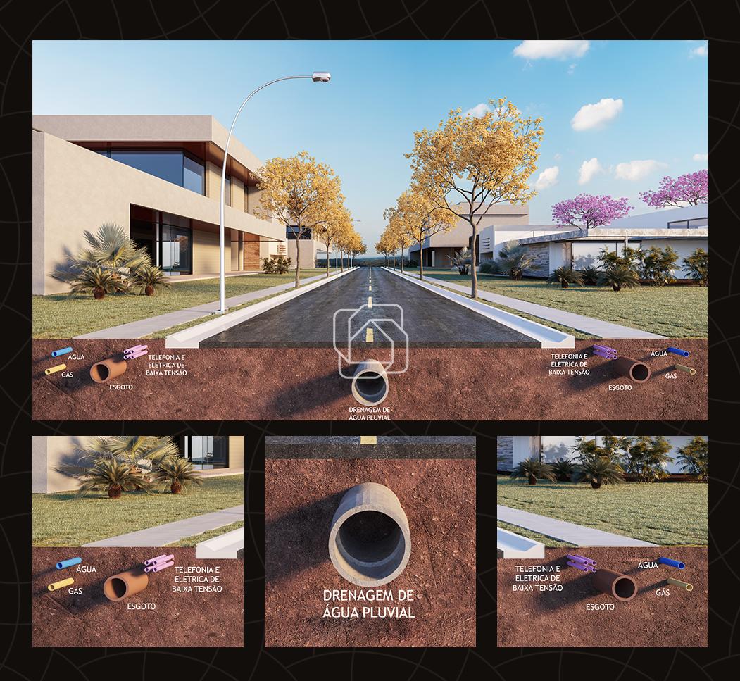 Terreno à venda no Condomínio Villa dos Pinheiros : Fotos meramente ilutrativas do projeto em 3D do condomínio